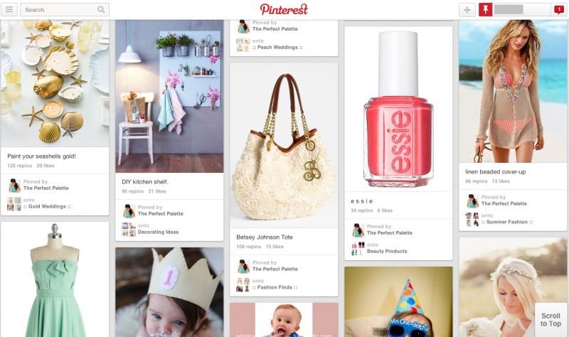 Pinterest (ピンタレスト)のメイン画面