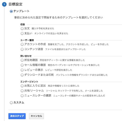 Google Analyticsのコンバージョン設定